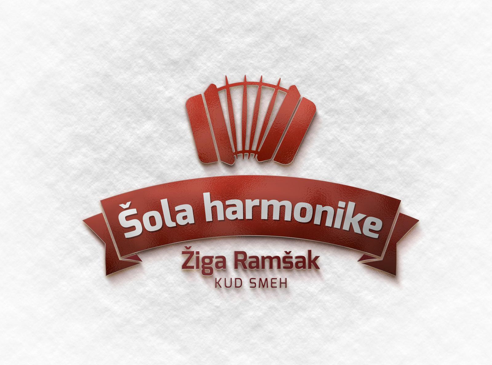 Logotip za šolo harmonike Žiga Ramšak