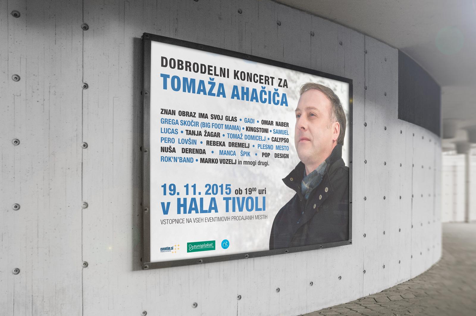 Dobrodelni koncert za Tomaža Ahačica
